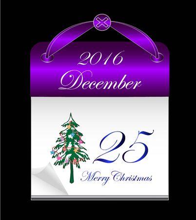 Christmast 2016 calendar background