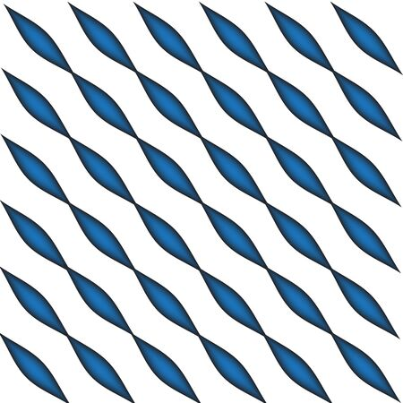 Geometric blue oval pattern vector created by illustration technique