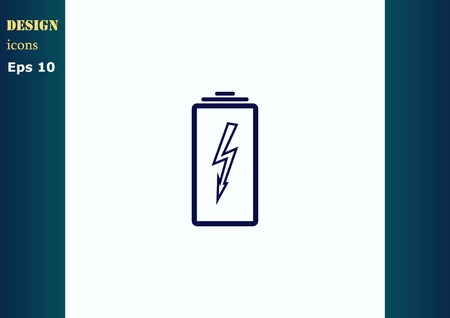 battery charging: Battery, charging icon