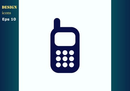phone: Phone talk icon