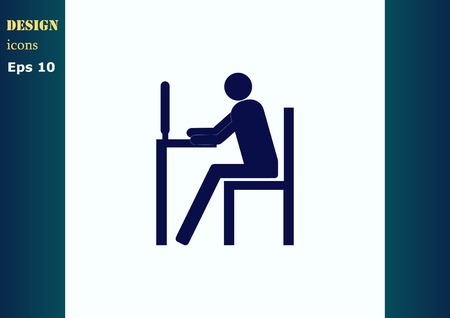 your: Protecting your computer laptop icon Illustration