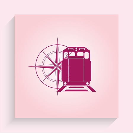 goods train: Goods train icon Illustration