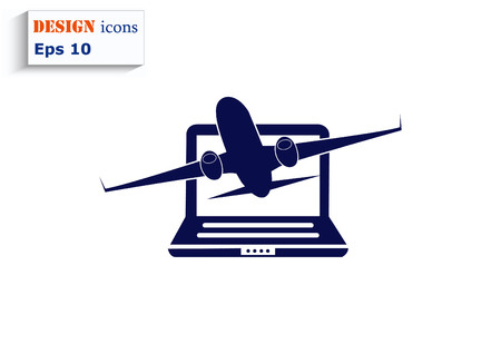 aero: Aircraft icon Illustration