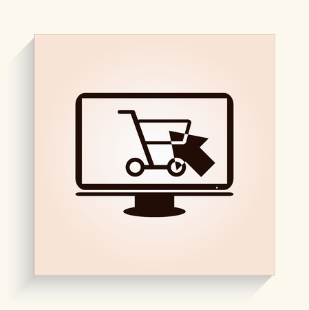 cart: Shopping trolley, cart icon