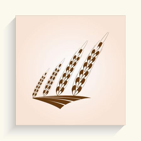bran: Wheat  icon Illustration