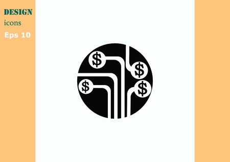 the electronic: Electronic money icon