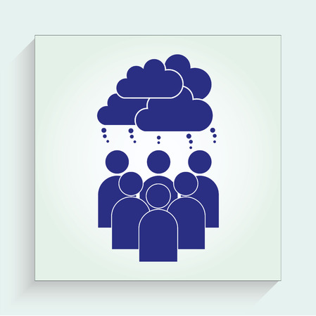 thumbs up group: friends icon Illustration