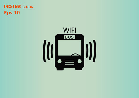 transportation icons: Bus icon
