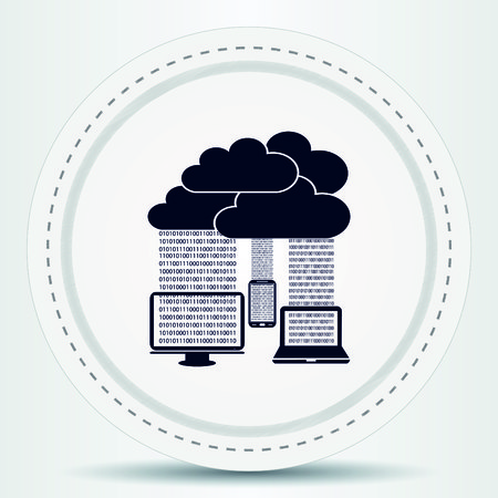 circulation of documents: technology icon