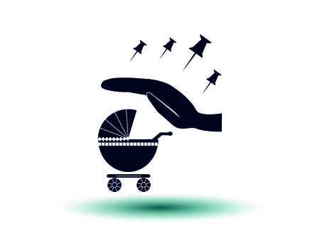 suckling: baby carriage icon