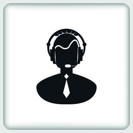 mobile operators: Clock icon Illustration