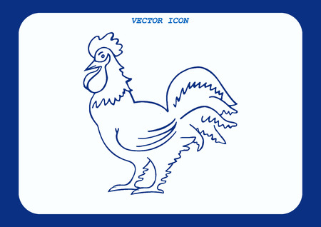 poultry: Poultry icon. Vector illustration. Chicken icon. Rooster icon.