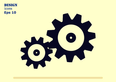 mining machinery: spare parts icon Illustration