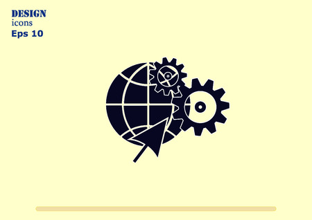 agricultural machinery: spare parts icon Illustration