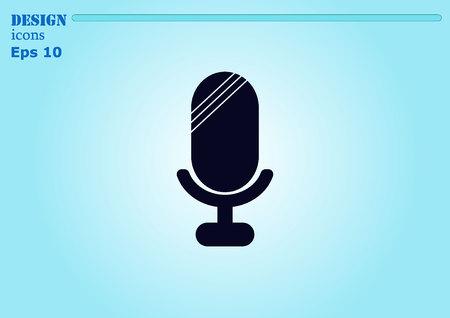 microfono antiguo: viejo icono de micr�fono