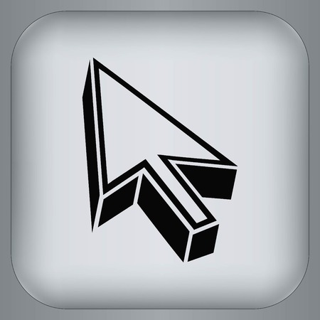 down under: Arrow indicates the direction icon
