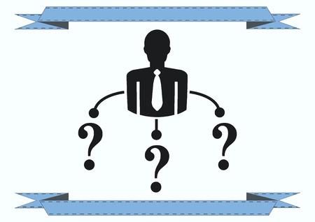 doubting: faq icon, question icon. Illustration