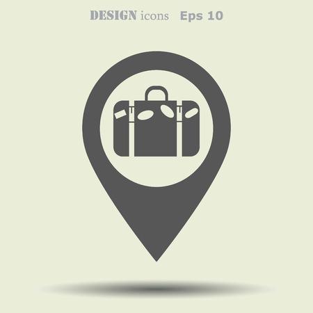 itinerary: Navigator Guide itinerary icon Illustration