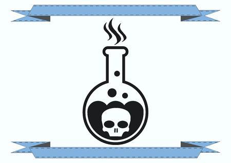 lye: Laboratory equipment, chemistry, science icon Illustration