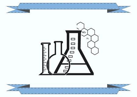 Laboratory equipment, chemistry, science icon