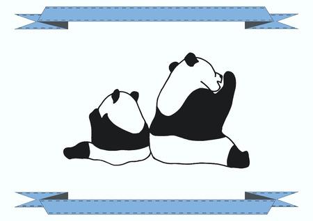 one panda: Vector illustration of a panda.