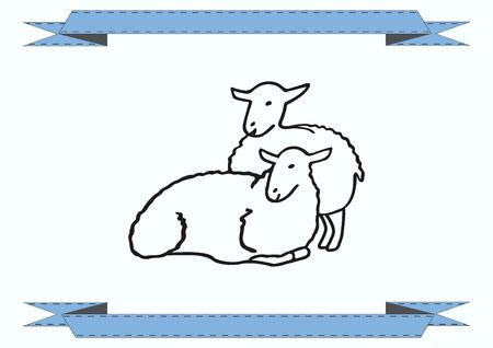flock of sheep: Vector illustration of a sheep. Flock of sheep. sheep. Illustration