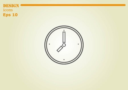 lapdog: Clock icon Illustration
