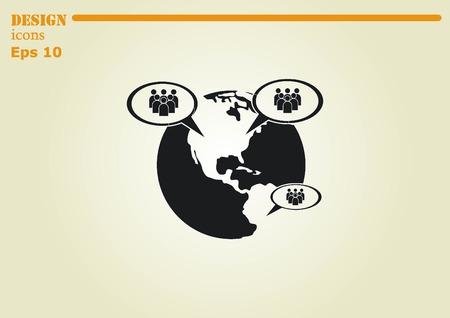 an announcement message: Speech bubbles icon vector icon