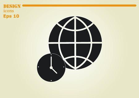 fly around: Globe icon Illustration