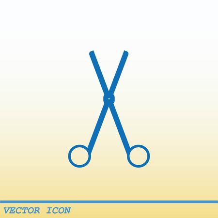 scissors cut: Scissors, cut icon Illustration