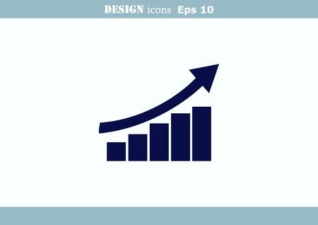 Diagram icon. Illustration