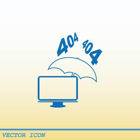 protecting your business: Computer, laptop icon Illustration