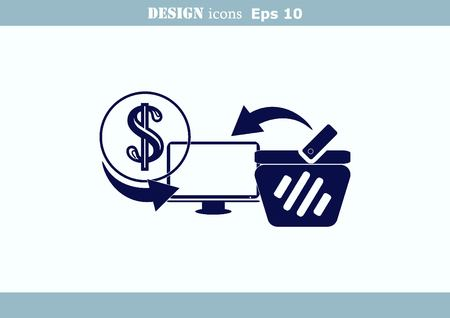 eshop: On line sale icon