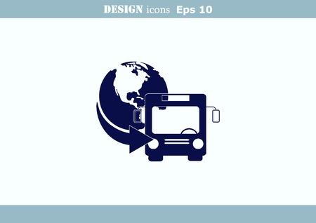 servicios publicos: Icono de autob?s Vectores