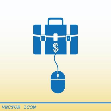 hand bag: Electronic money icon