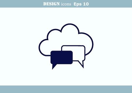 Speech bubbles icon vector icon