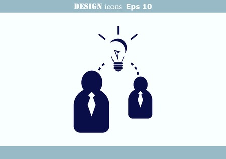 analytical: Business strategy icon, business concept icon illustration.