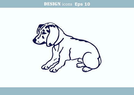 whelp: illustration of a puppy. A small dog. Illustration