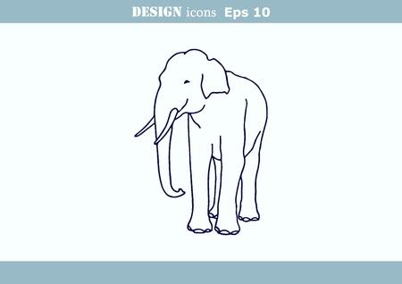 dangerous: illustration of an elephants head. Large, dangerous beast. Illustration