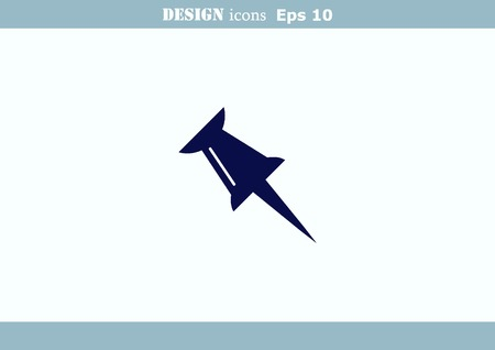 push pin icon Illustration