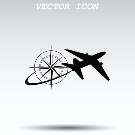 turbine engine: Aircraft icon Illustration