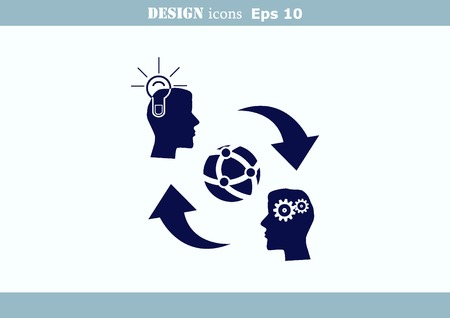 Business strategy icon, business concept icon Illustration