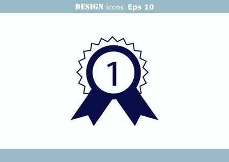 Medal, reward, honor  icon Illustration