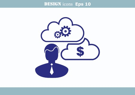 inaccessible: Business strategy icon, business concept icon Illustration