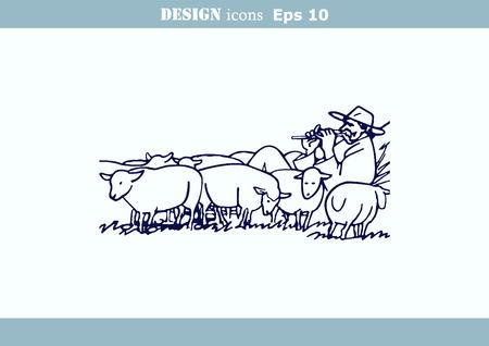 baa: illustration of a sheep.
