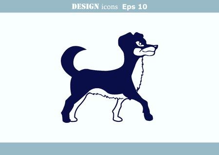 illustration of a dog. Aggressive purebred dog. Illustration