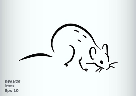 Rat icon. Mouse, harmful rodents icon.