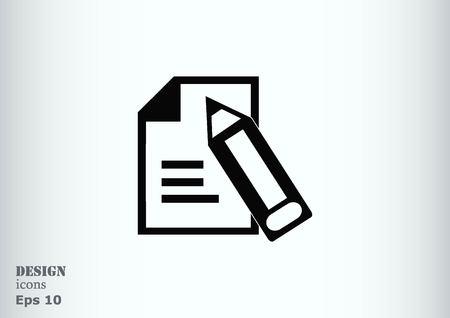 Document determining identity icon. Illustration