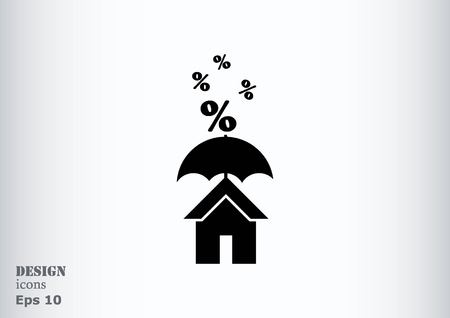 real state: house icon, vector illustration. Illustration