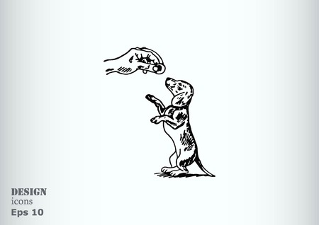 pedigree: Vector illustration of a dog. Aggressive purebred dog. Illustration